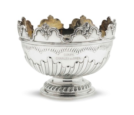 A VICTORIAN SILVER MONTEITH