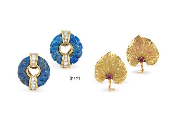 A GROUP OF GOLD AND GEM-SET JE