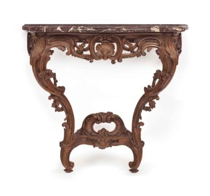 A LOUIS XV OAK CONSOLE TABLE