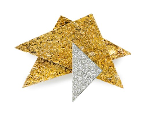 A DIAMOND, GOLD AND PLATINUM B
