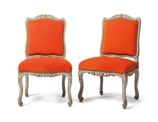 A PAIR OF EARLY LOUIS XV CREAM
