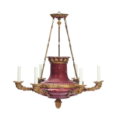 A FRENCH TOLE-PEINTE AND GILT-