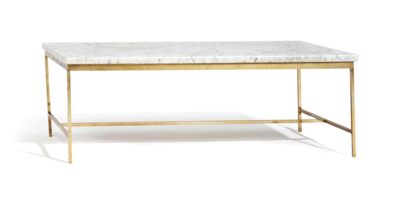 A GILT-METAL AND MARBLE RECTAN