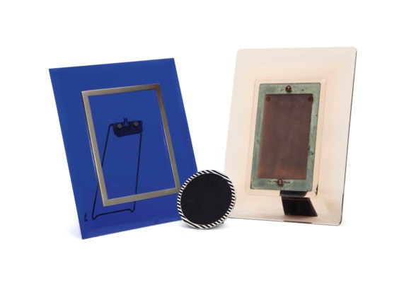 AN ITALIAN BLUE GLASS PICTURE