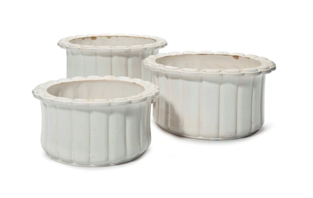 THREE GLAZED CERAMIC FRENCH CA