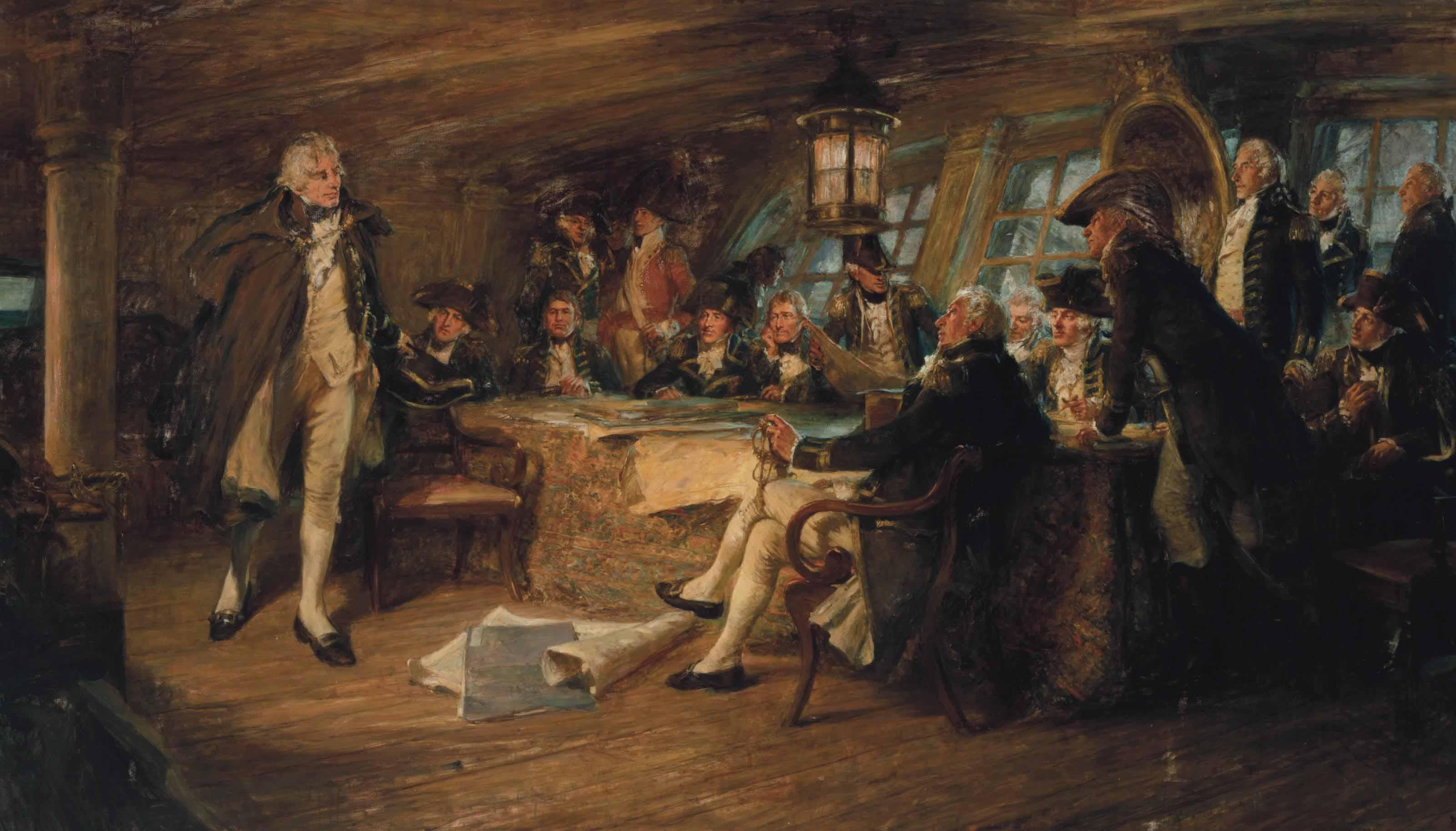 Nelson and Council of War before Copenhagen