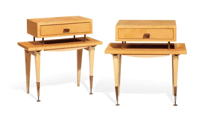 A PAIR OF MAPLE OCCASIONAL TAB
