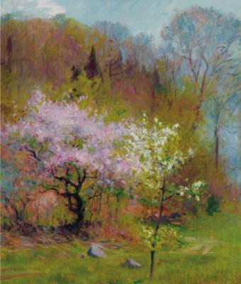 Robert William Vonnoh American 1858 1933 Spring Trees