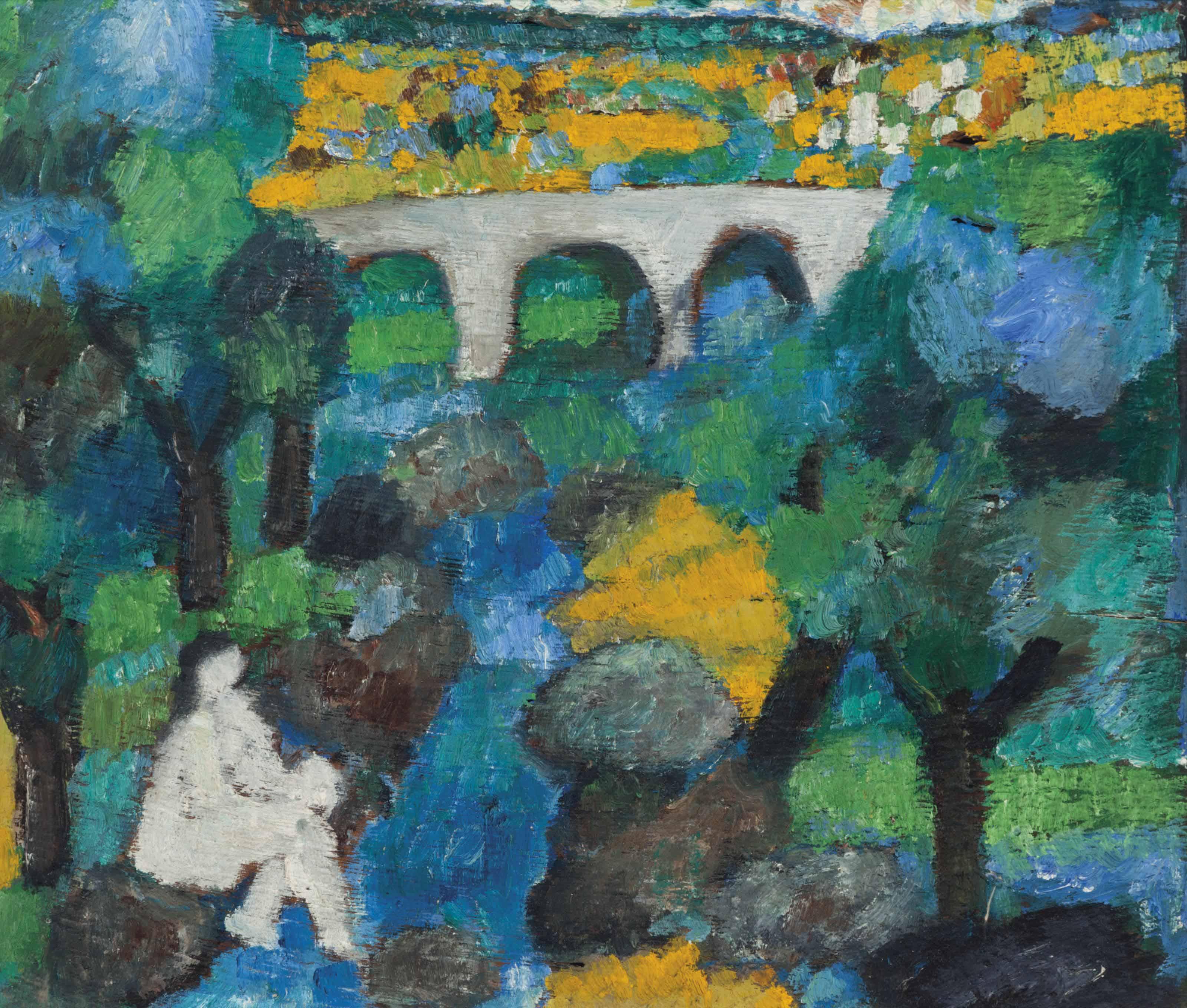 Nude at aqueduct
