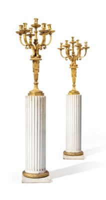 A LARGE PAIR OF AMERICAN GILT-