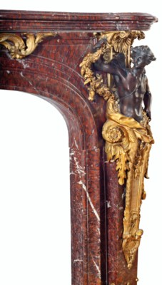 A FINE FRENCH ORMOLU AND PATIN