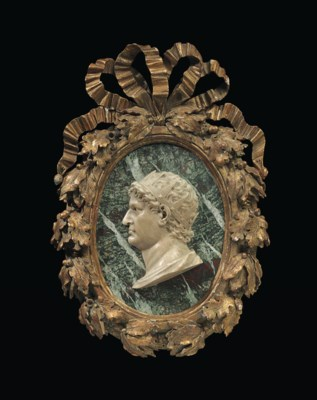 AN AJOURE ALABASTER PROFILE OF