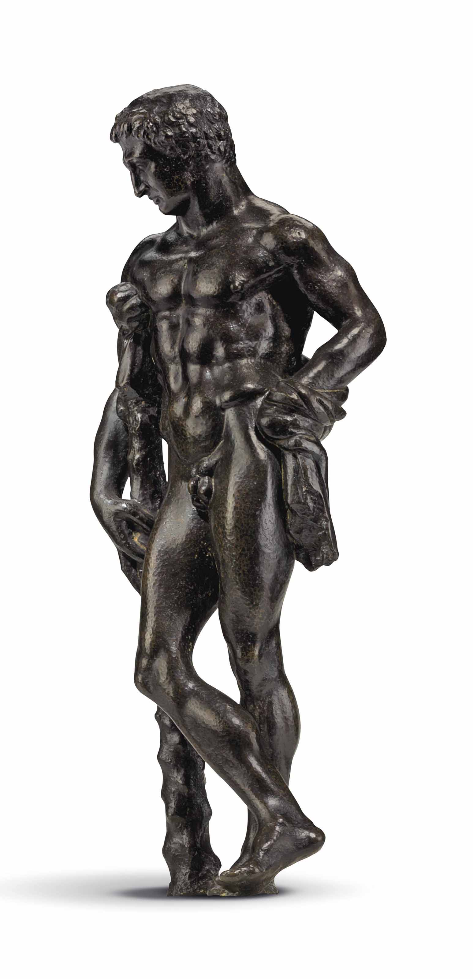 A BRONZE FIGURE OF HERCULES RE