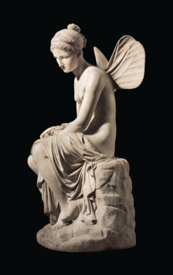A MARBLE FIGURE OF PSYCHE ABAN