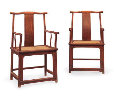 A PAIR OF HUANGHUALI  'OFFICIA