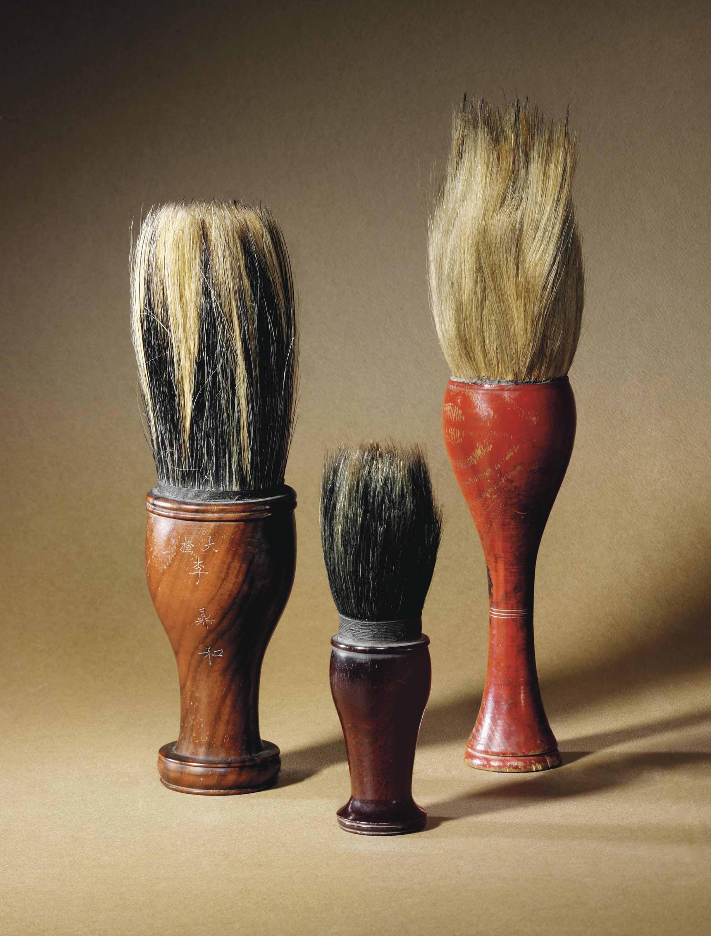 THREE SCHOLAR'S BRUSHES