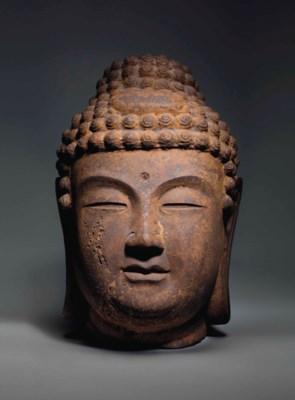 A large cast iron head of Budd