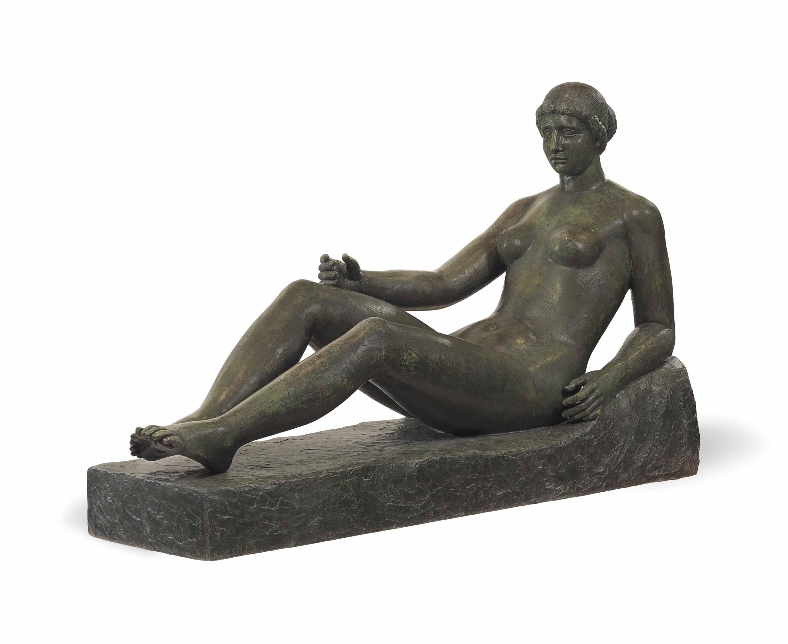Baigneuse allongée (Premier état pour le monument à Port-Vendres)