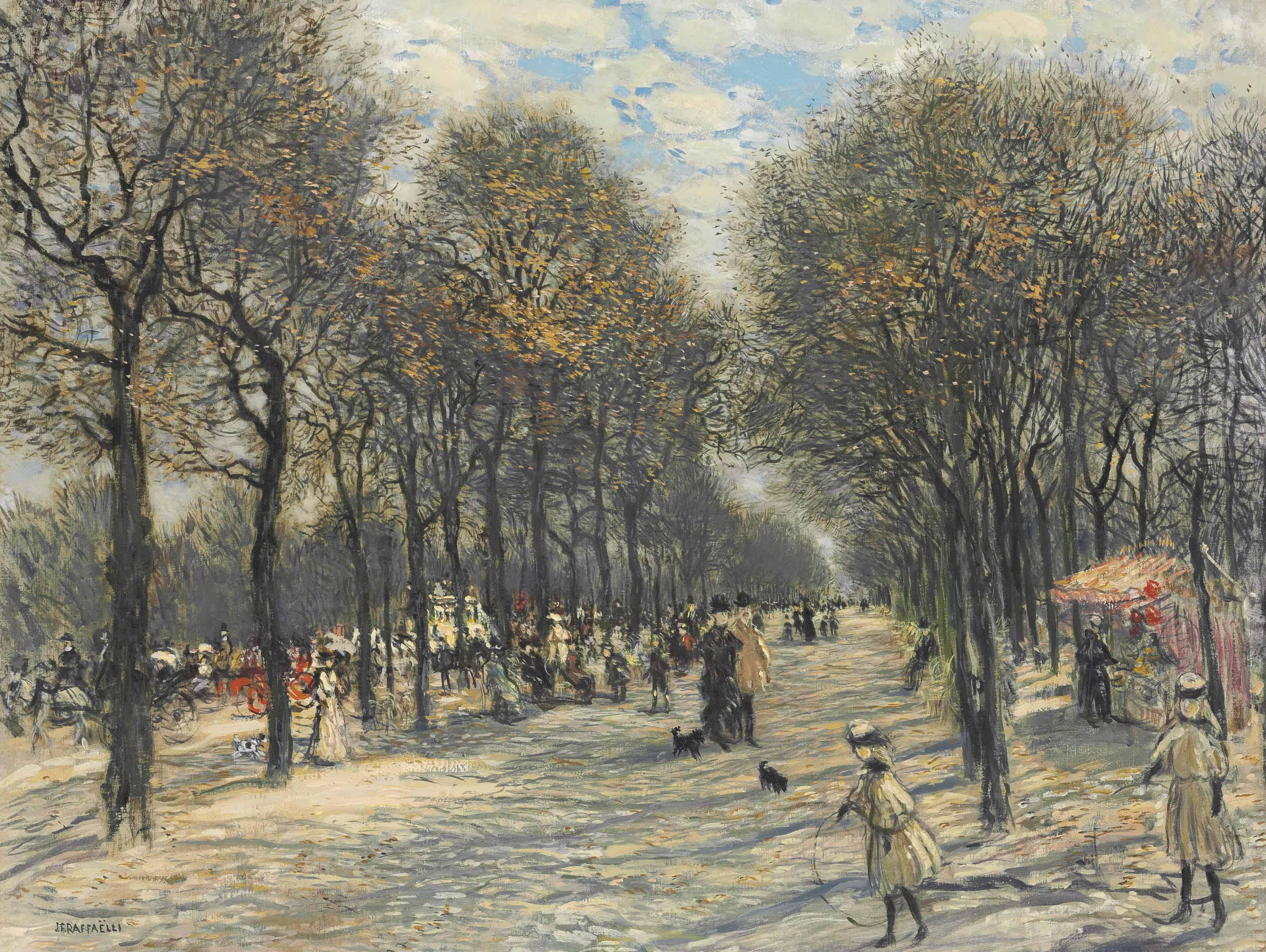 Allée d'arbres aux Champs-Elysées