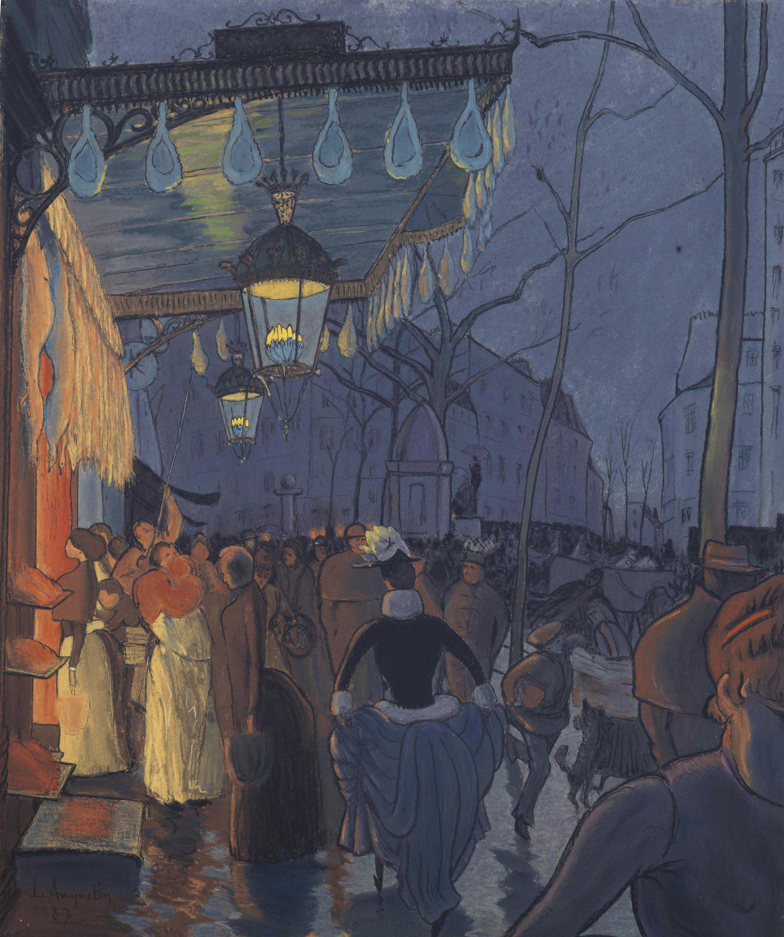 Avenue de Clichy, le soir, cinq heures