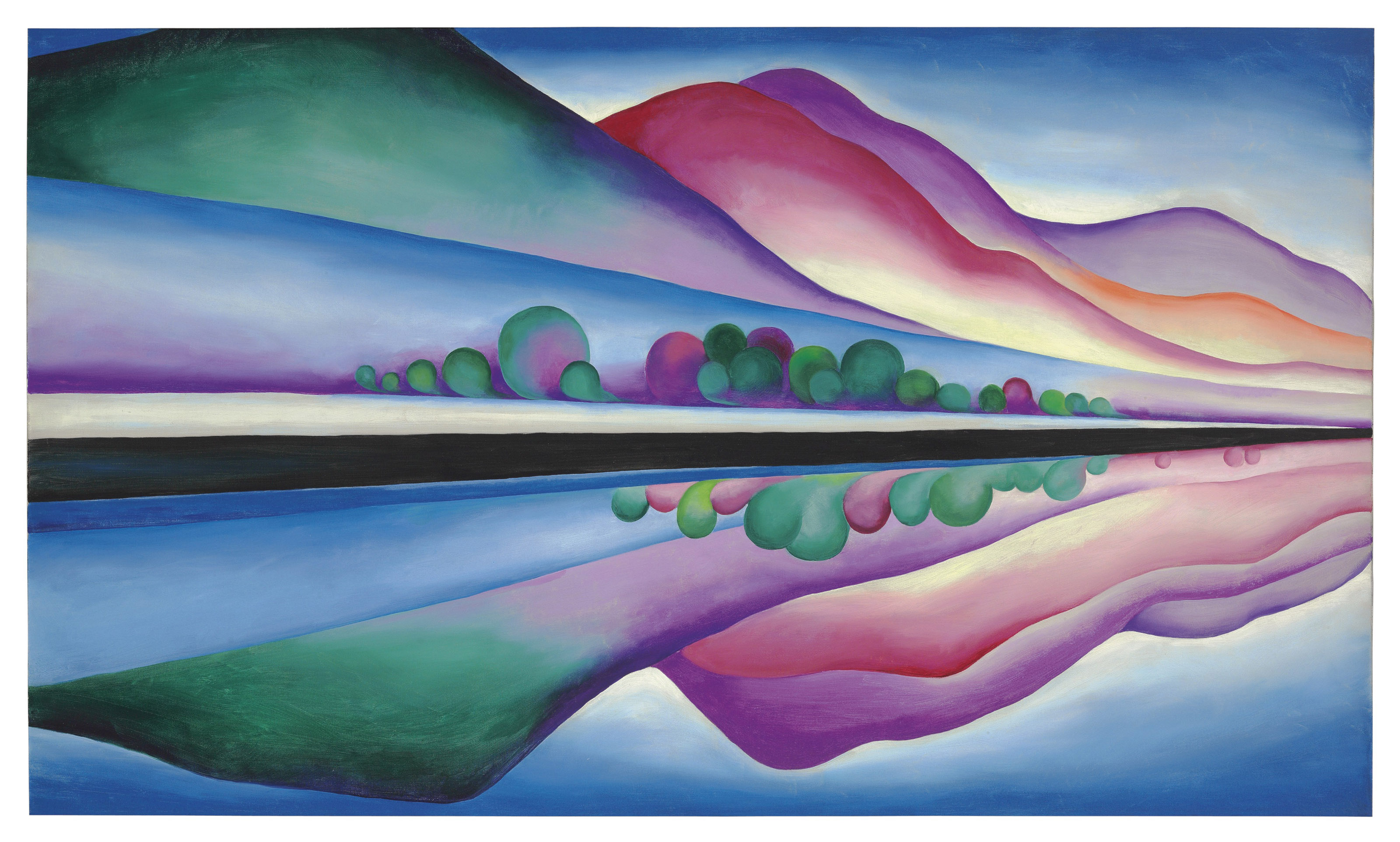 Best Buy Private Auction >> Georgia O'Keeffe (1887-1986) , Lake George Reflection   Christie's