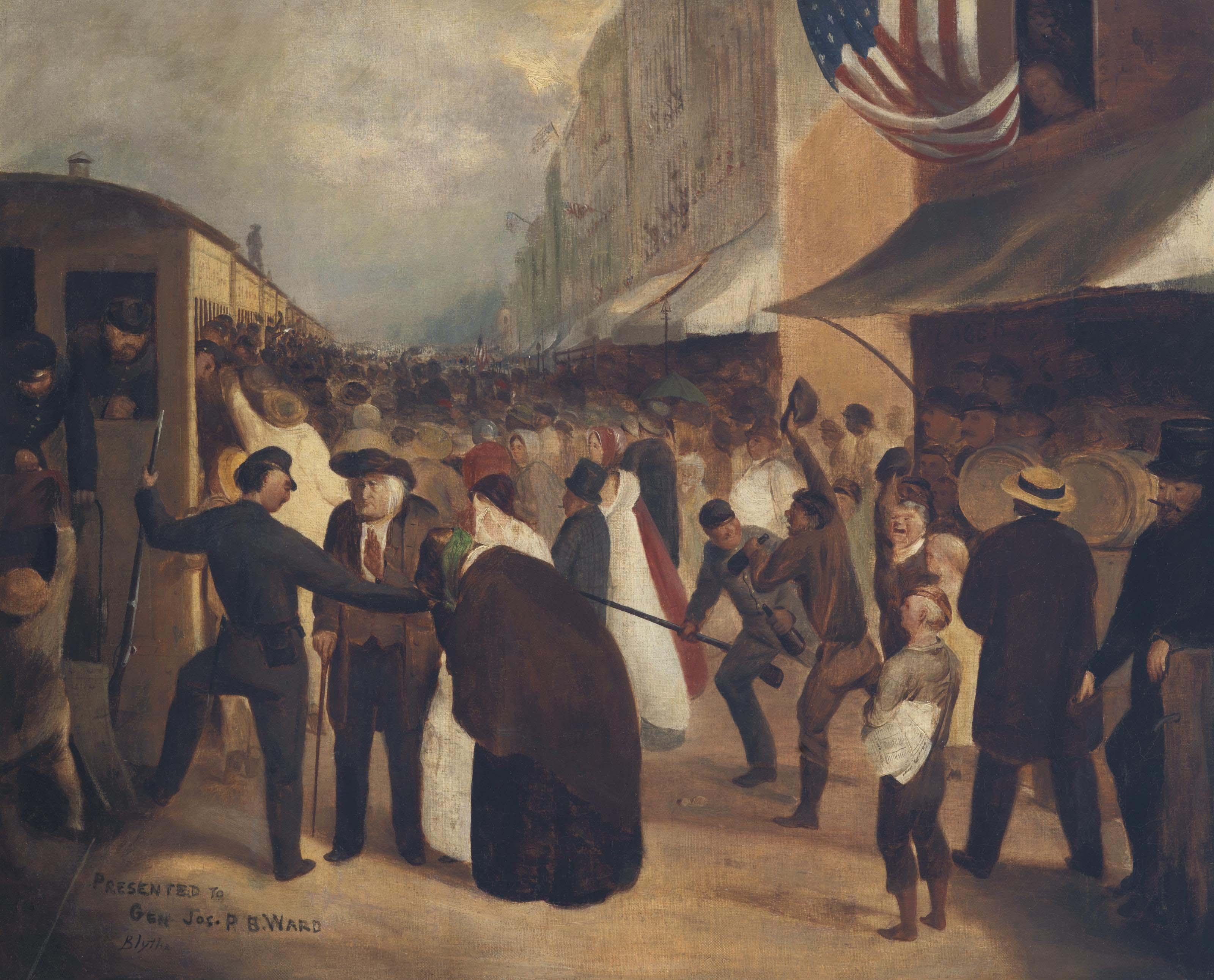 Union Troops Entraining