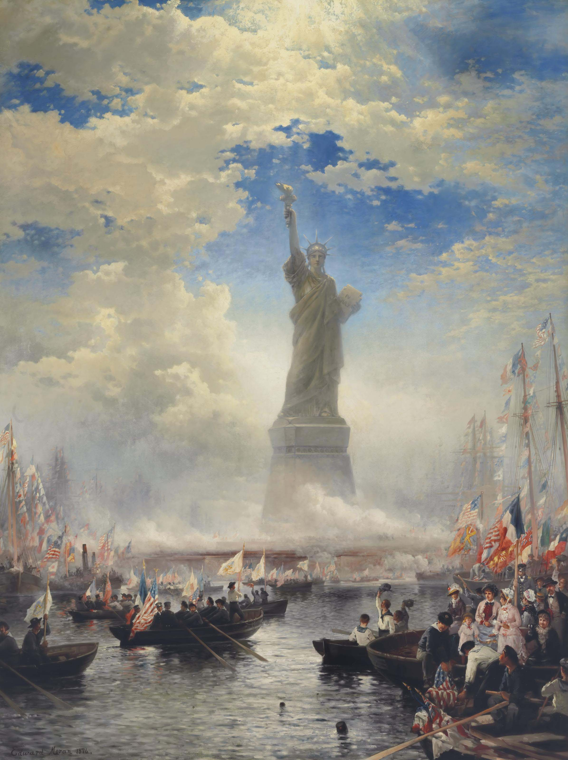 Commerce of Nations Rendering Homage to Liberty