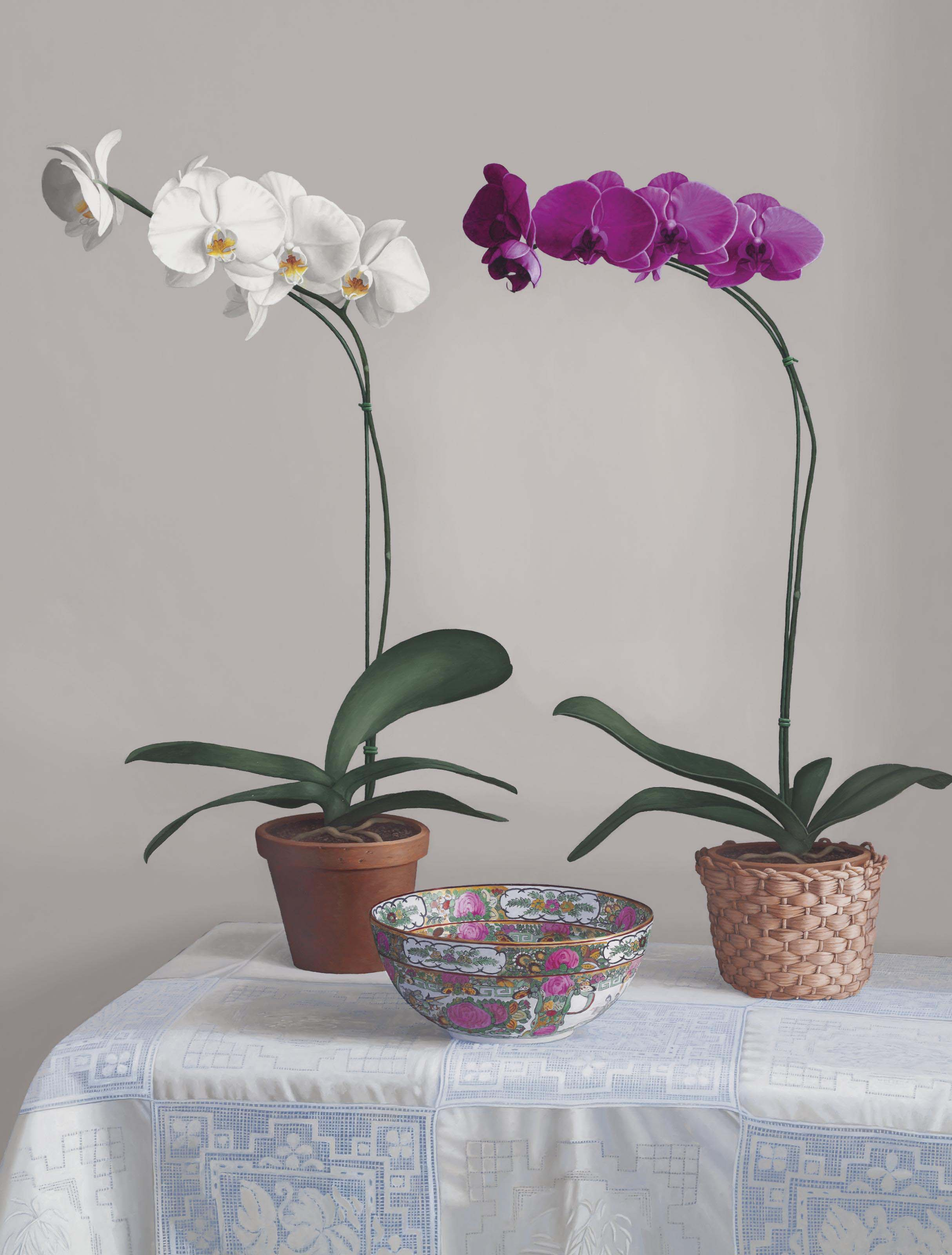 Orchids and Chinese Bowl