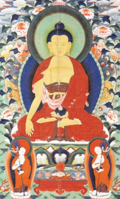 A Painting of a Seated Buddha