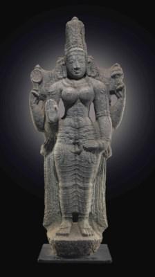 A granite figure of Parvati