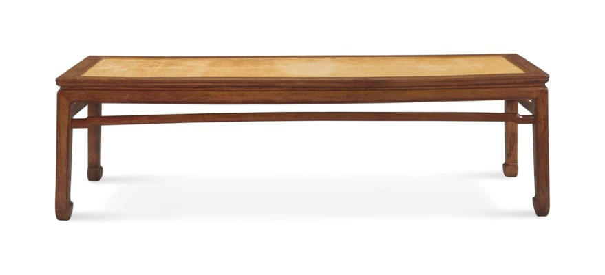 A HUANGHUALI WAISTED DAY BED,