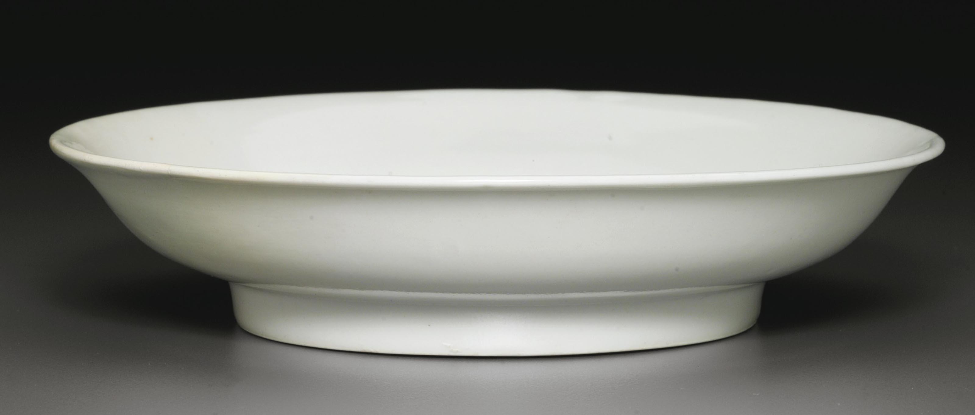 A RARE SMALL WHITE-GLAZED DISH