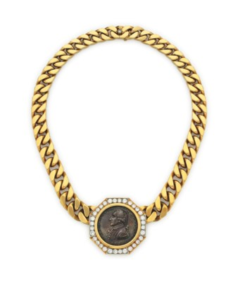 A GOLD COIN NECKLACE, BY BULGA