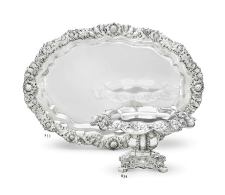 AN AMERICAN SILVER COMPOTE