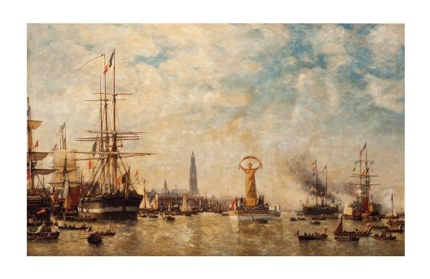 Paul Jean Clays (Belgian, 1819