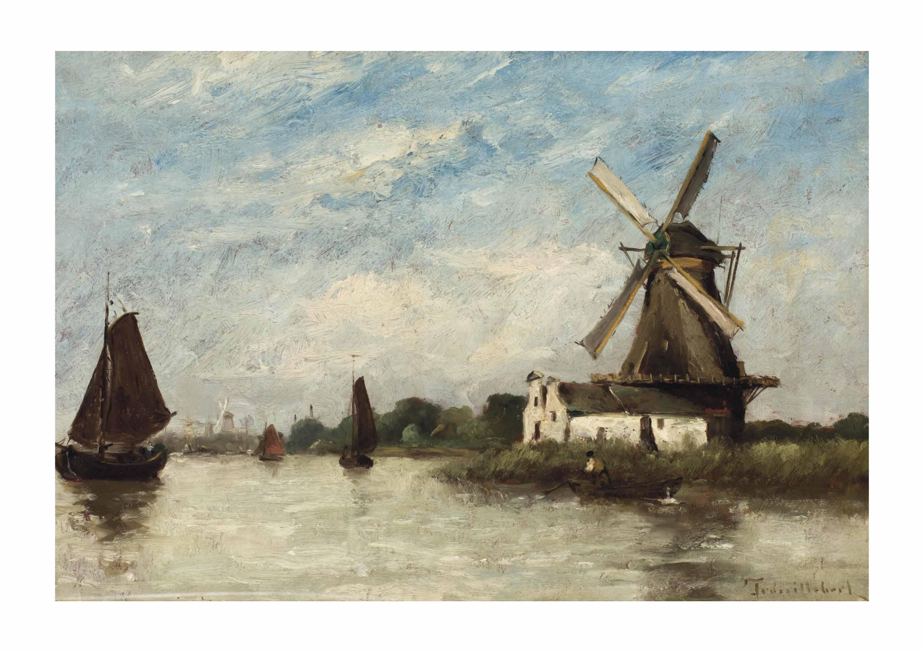 Moulin au bord du canal, Hollande