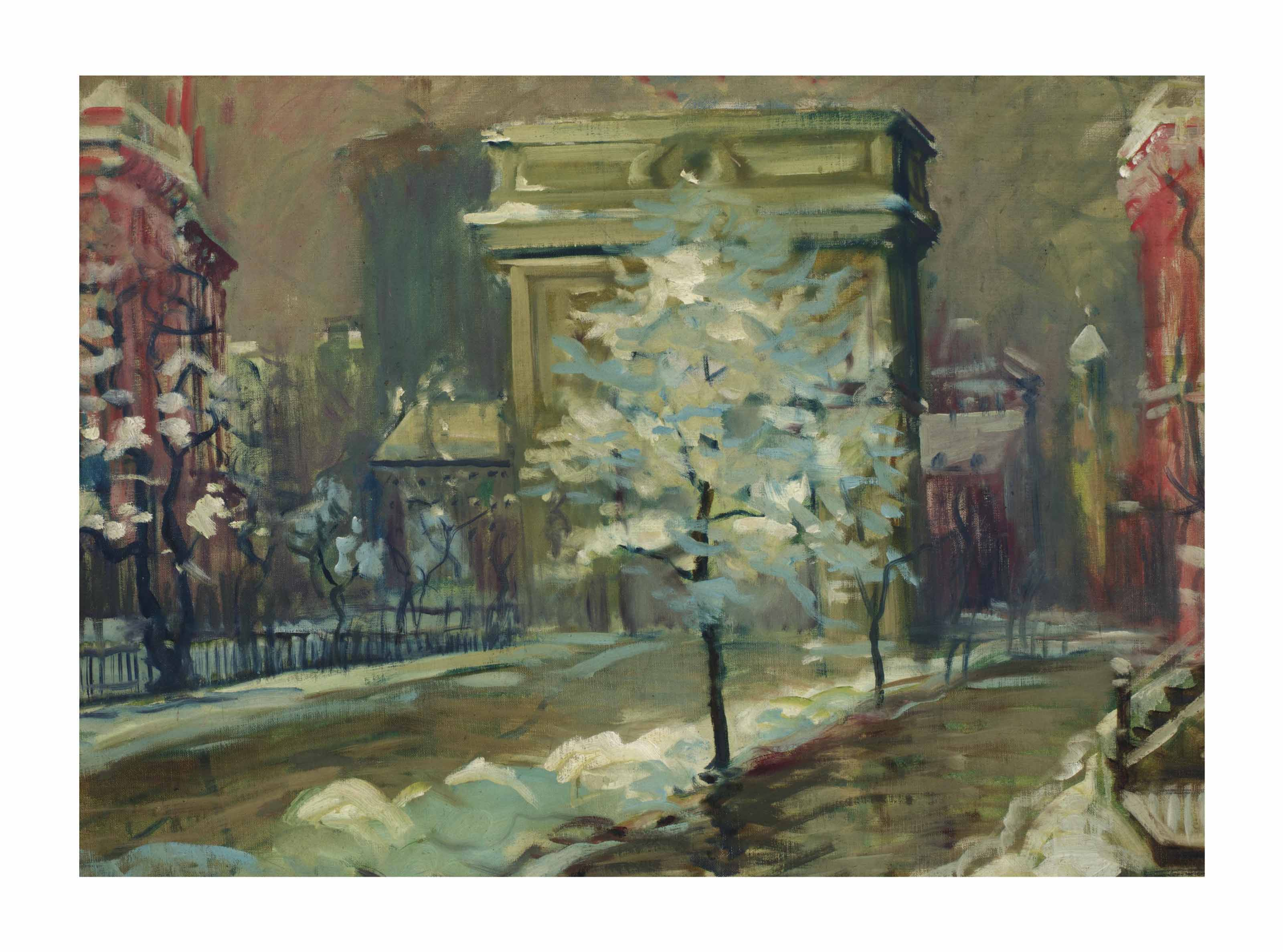 Snowy Day, Washington Square