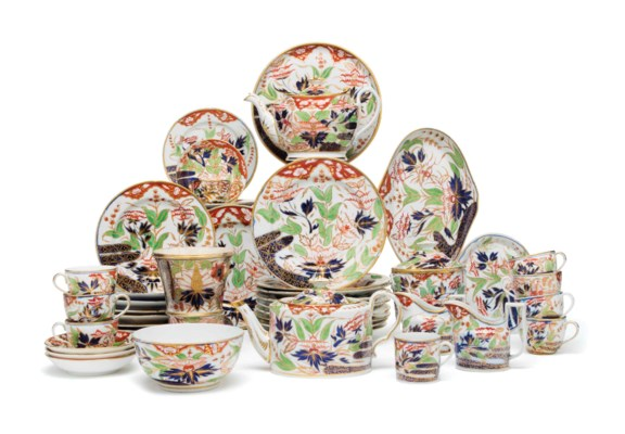 AN ASSEMBLED COALPORT PORCELAI