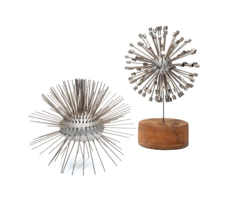 TWO METAL ABSTRACT SCULPTURES