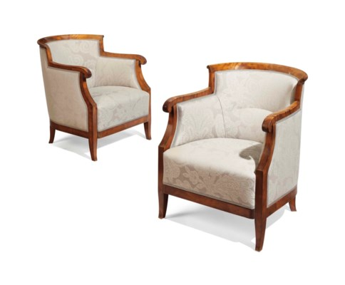 A PAIR OF SWEDISH BIRCH BERGER