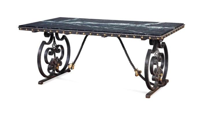 A FRENCH WROUGHT IRON AND PARC