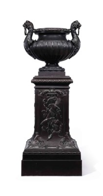 A FRENCH BRONZE-PAINTED CAST-I