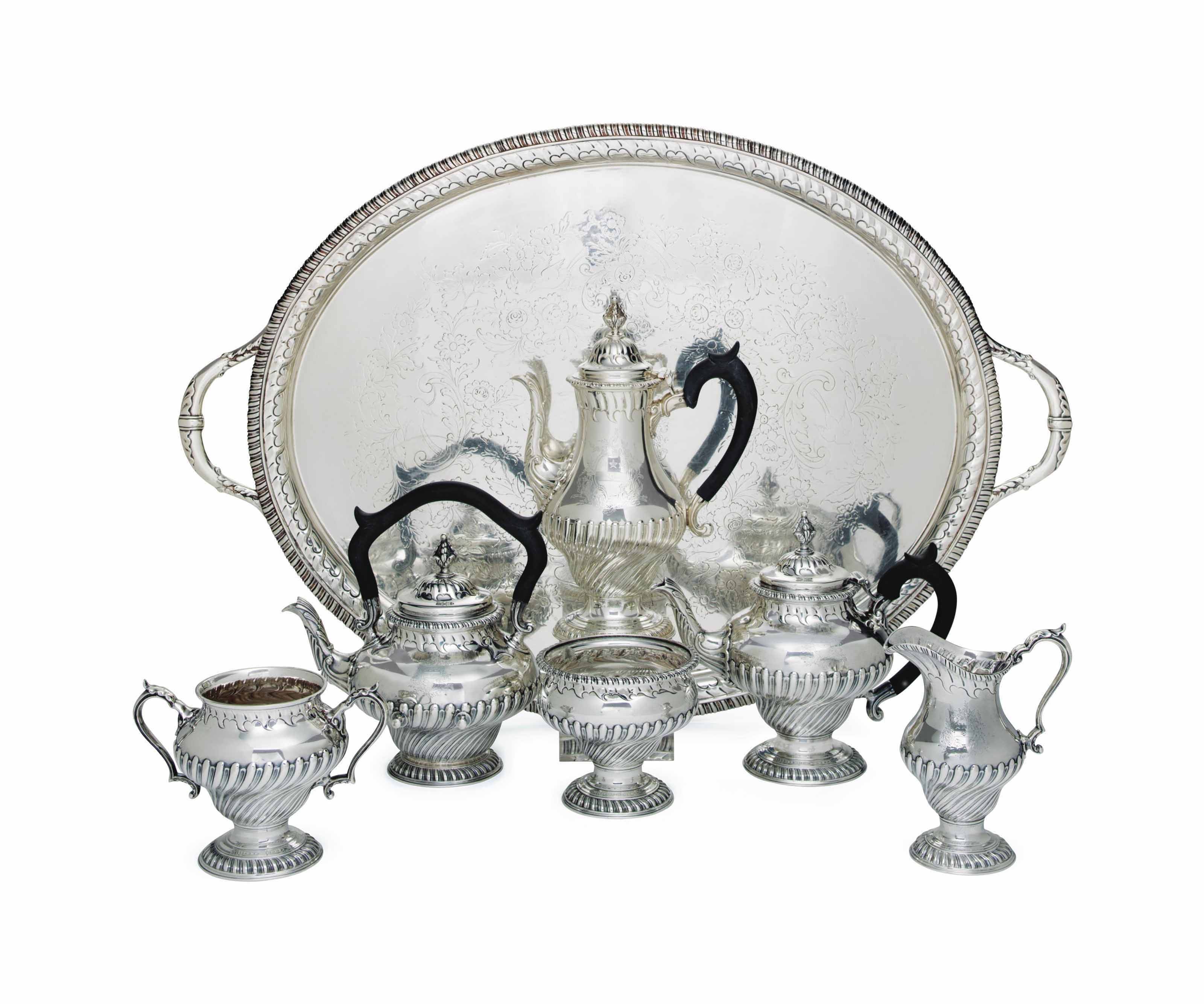 AN AMERICAN SILVER TEA AND COFFEE SERVICE
