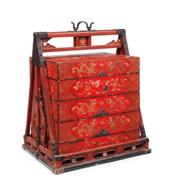 A CHINESE RED LACQUER WEDDING