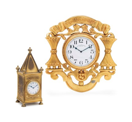 TWO AMERICAN GILT-BRONZE TIMEP