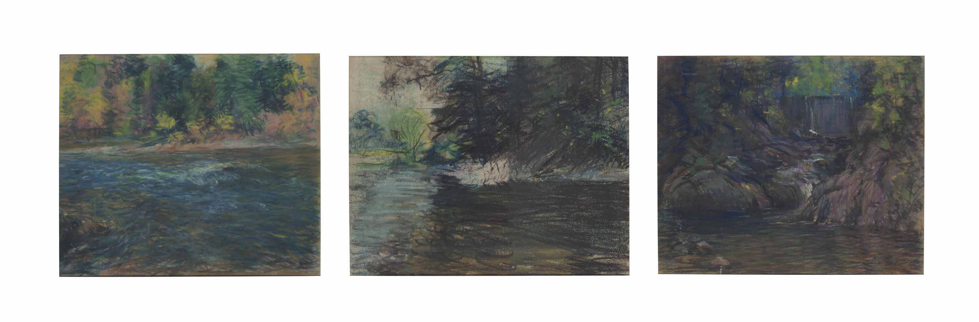 Woods; together with Autumn River Bank and Afternoon River