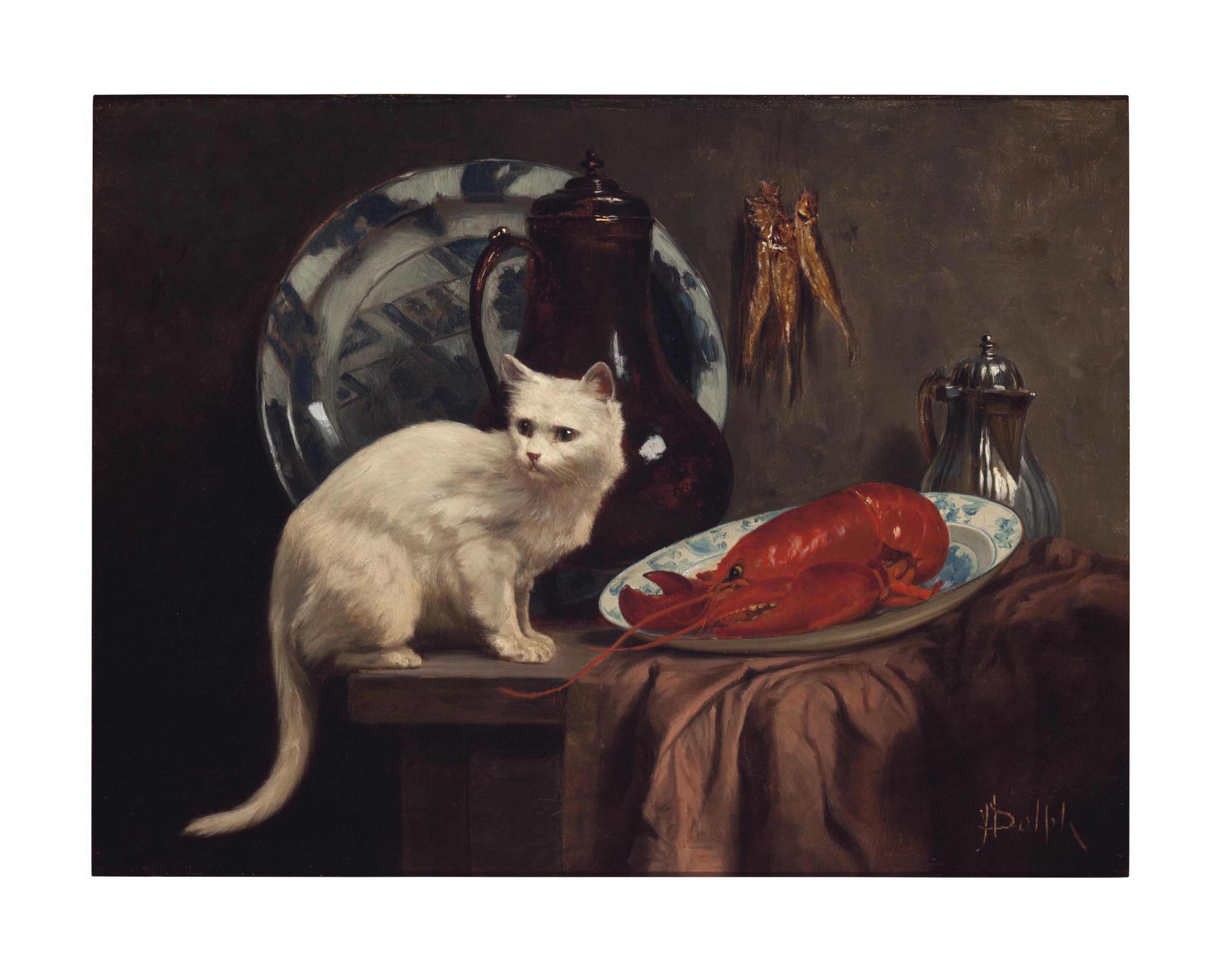Still Life with Cat and Lobster