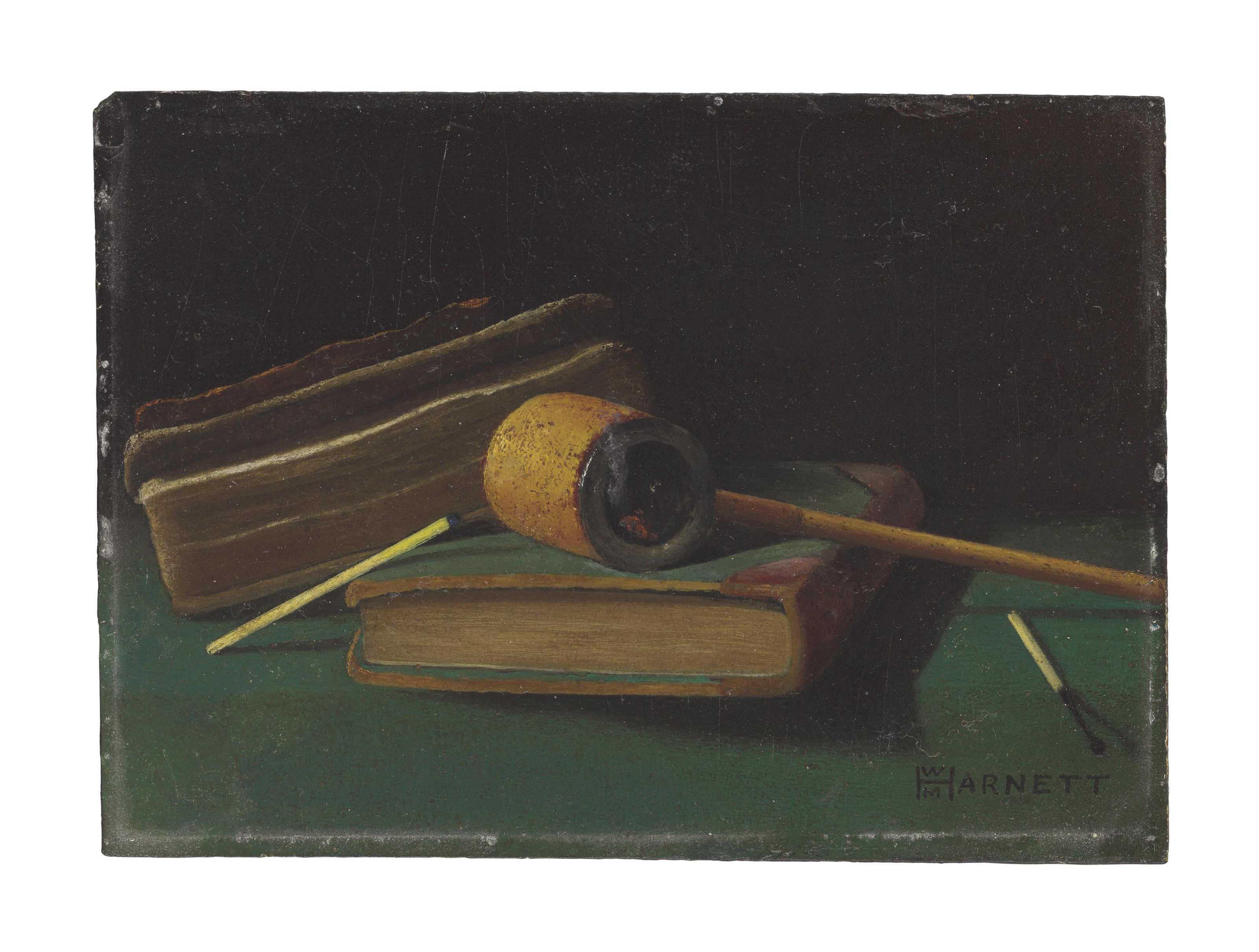 Still Life with Books, Pipe and Matches