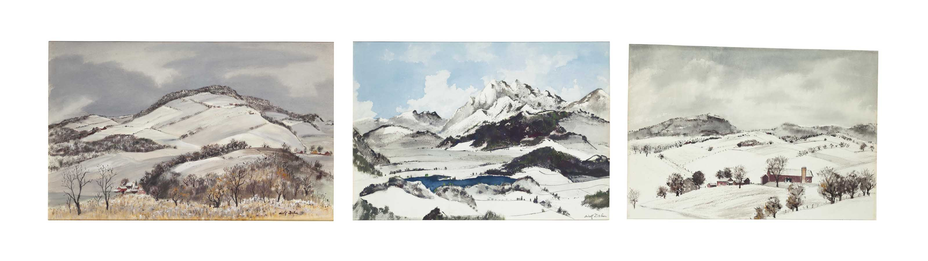 Winter landscapes (three works)