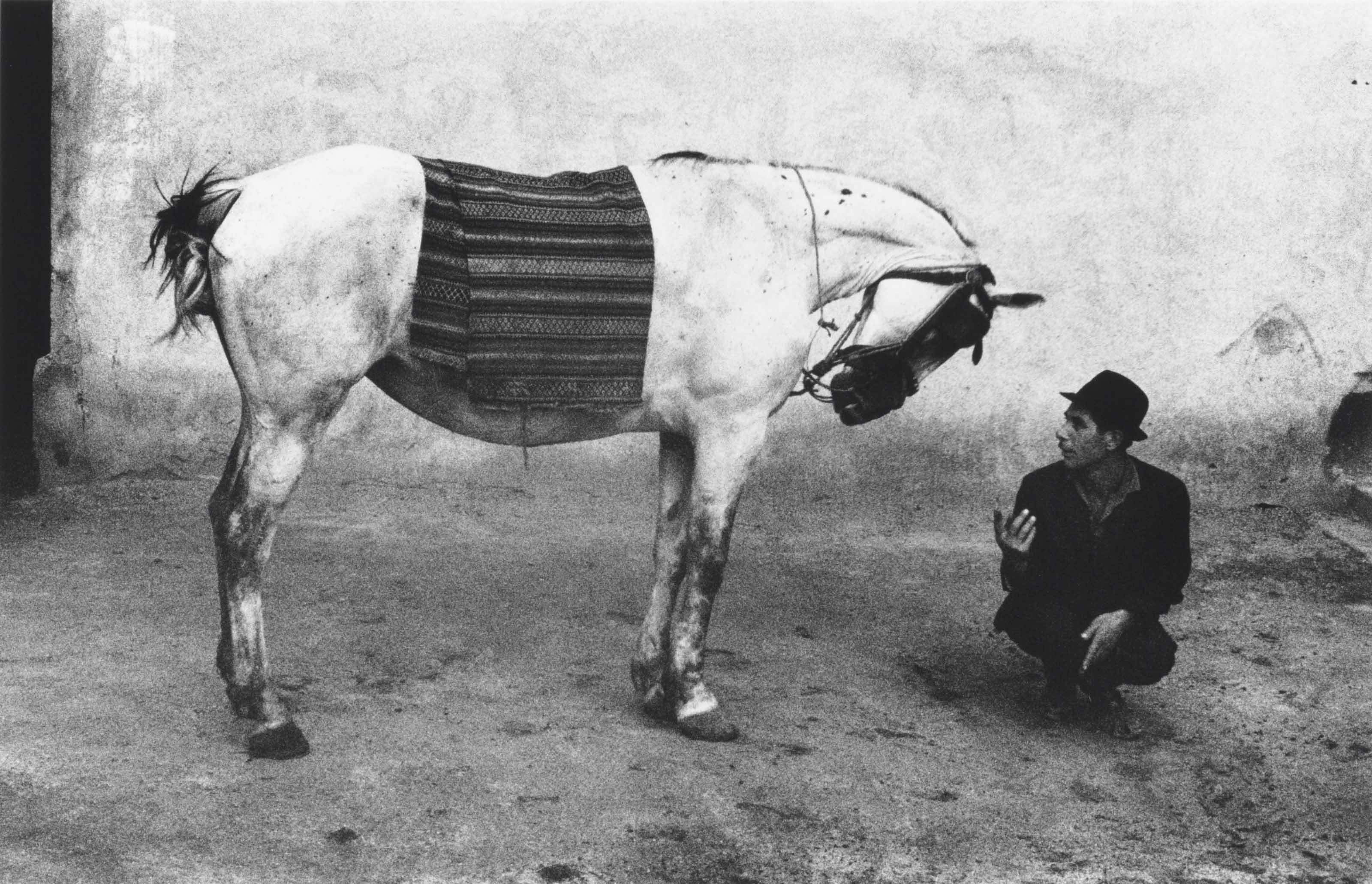 Man with horse, Romania, 1968